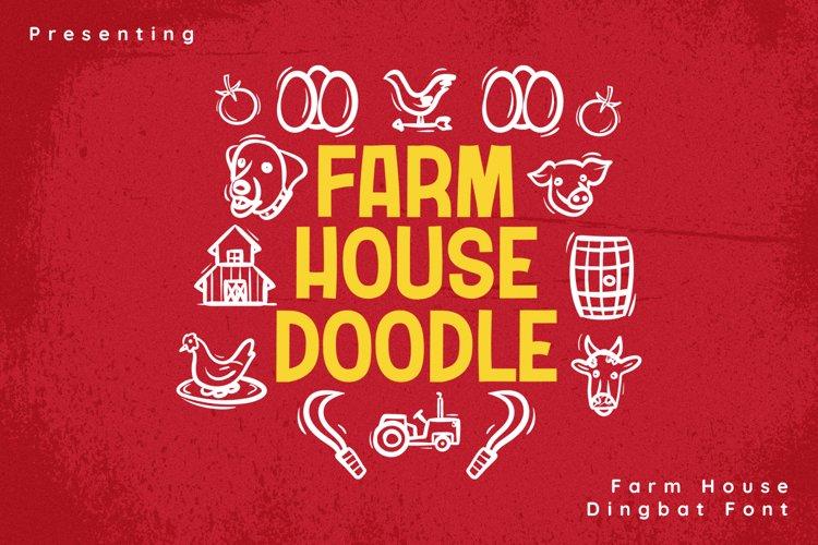 FarmHouseDoodle Font example image 1