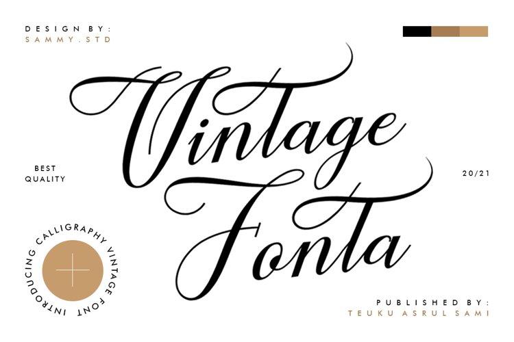 Vintage Fonta example image 1