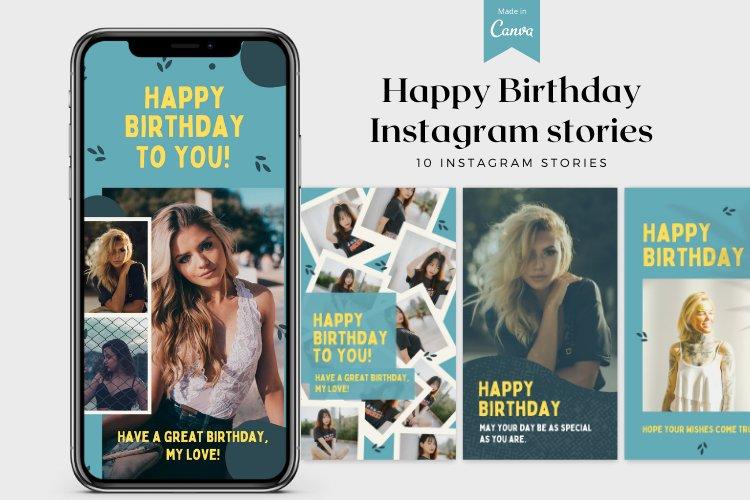 10 Happy Birthday Instagram Stories Canva Templates example