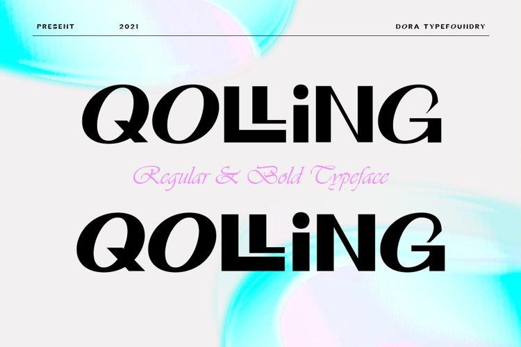 Qolling Display Font example image 1