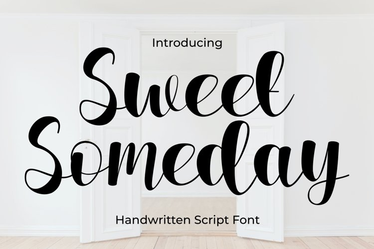 Sweet Someday Script Font example image 1