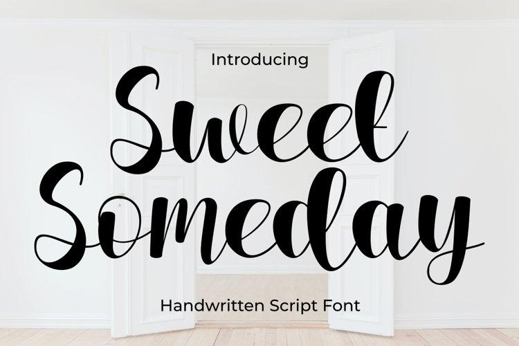 Sweet Someday Script Font