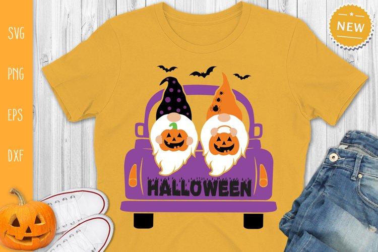 Halloween Gnomes in Truck Svg, Halloween Truck Svg