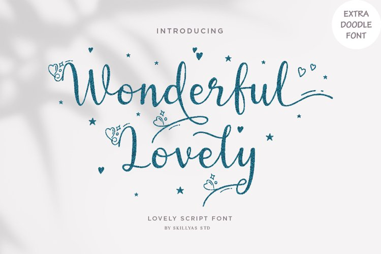 Wonderful Lovely - a Romantic Script Font example image 1
