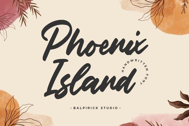 Phoenix Island Handwritten Font example image 1