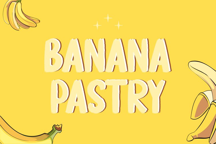 Banana Pastry - Brush Display Font example image 1