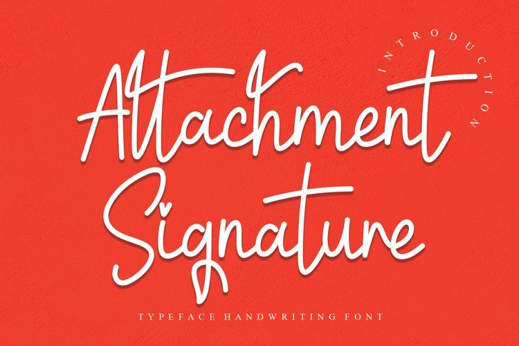 Attachment Signature example image 1