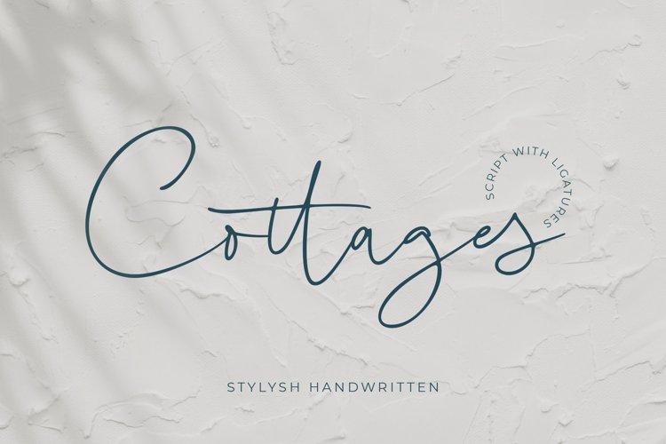 COTTAGES - Stylish Handwritten