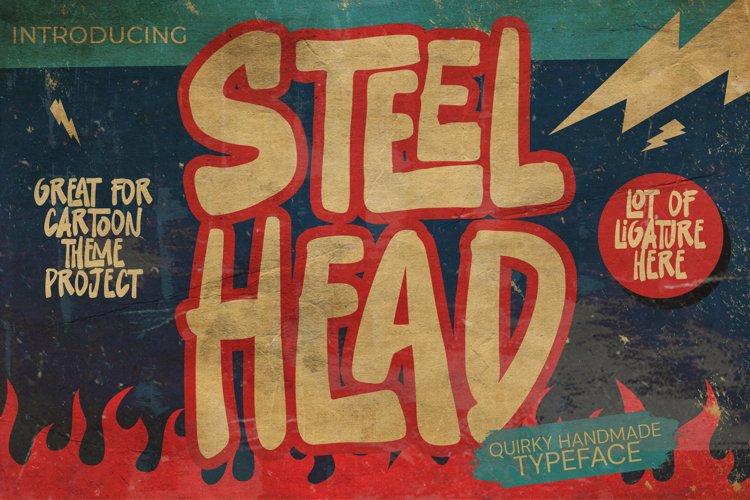 Steelhead - cartoon font brush example image 1