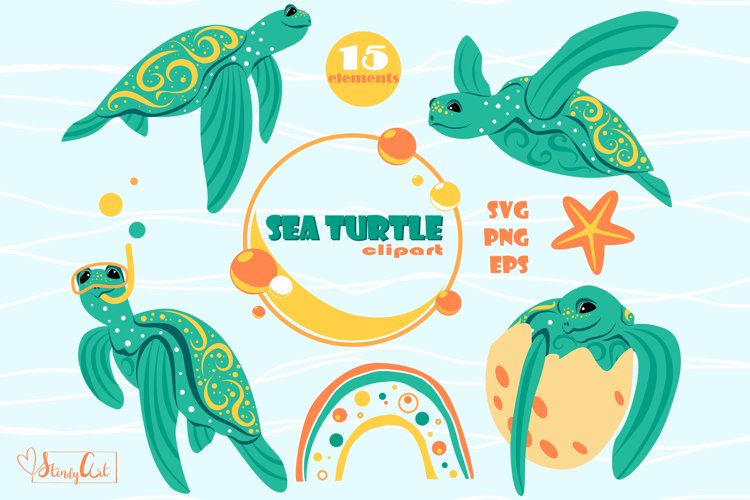 Sea Turtle Clipart - SVG/PNG files for cricut or sublimation
