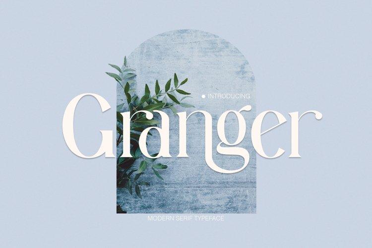 Granger Ligature Serif Typeface example image 1