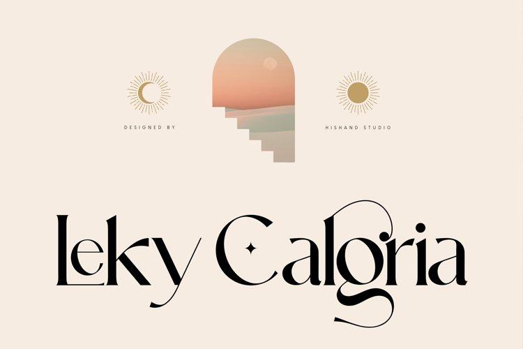 Leky Calgria Elegant Serif example image 1