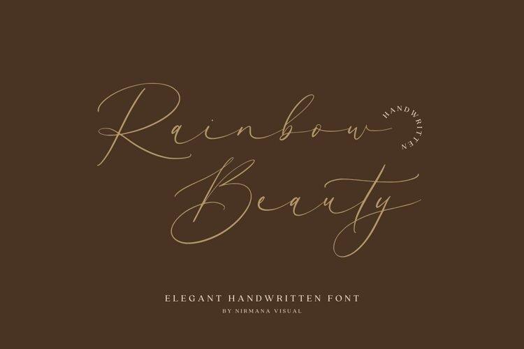 Rainbow Beauty - Wedding Font