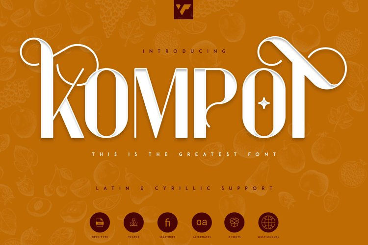 Kompot Display - 2 fonts example image 1