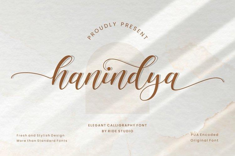 Hanindya - Elegant Calligraphy Script Font example image 1