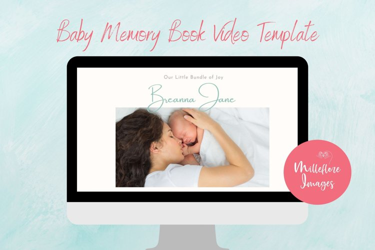 Baby Memory Photobook Photo Video. Canva custom template.