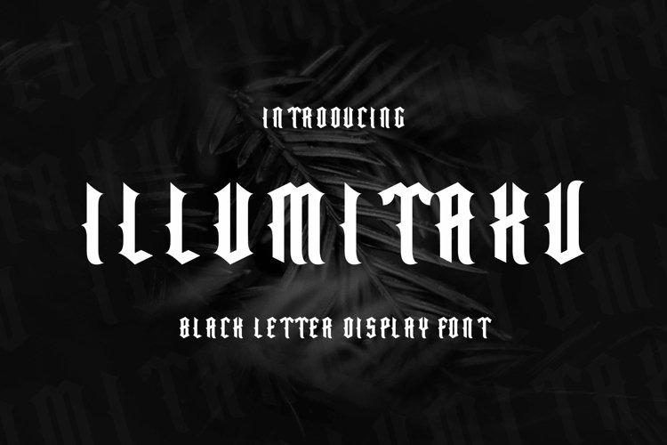 Illumitaxv Font example image 1