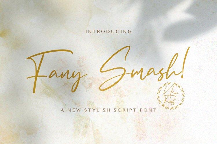 Fany Smash - Handwritten Font example image 1