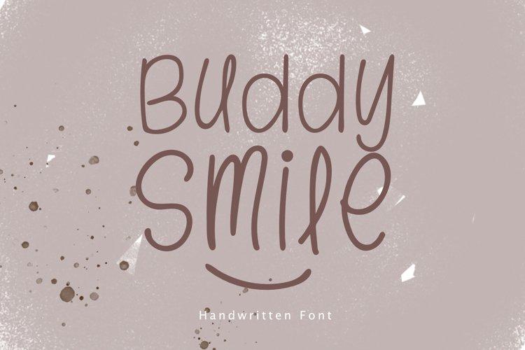 Buddy Smile - Handwritten font example image 1