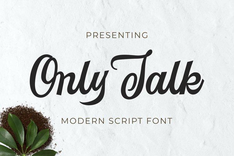 Onlytalk Font example image 1