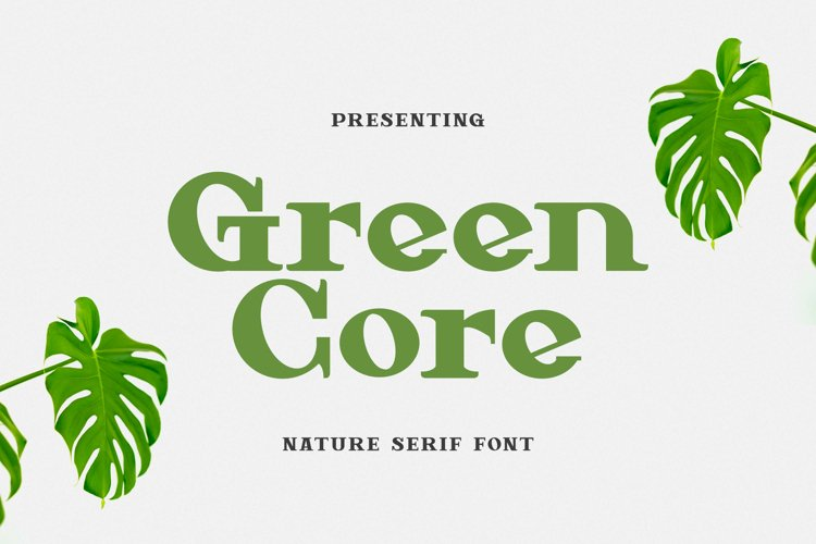 Green Core Font example image 1