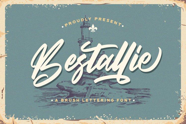 Bestallie - Bold Script Font example image 1