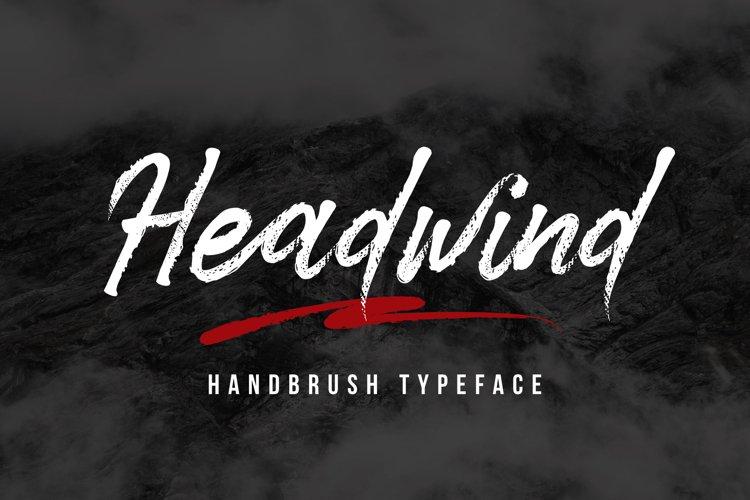 Headwind - Handbrush Typeface example image 1