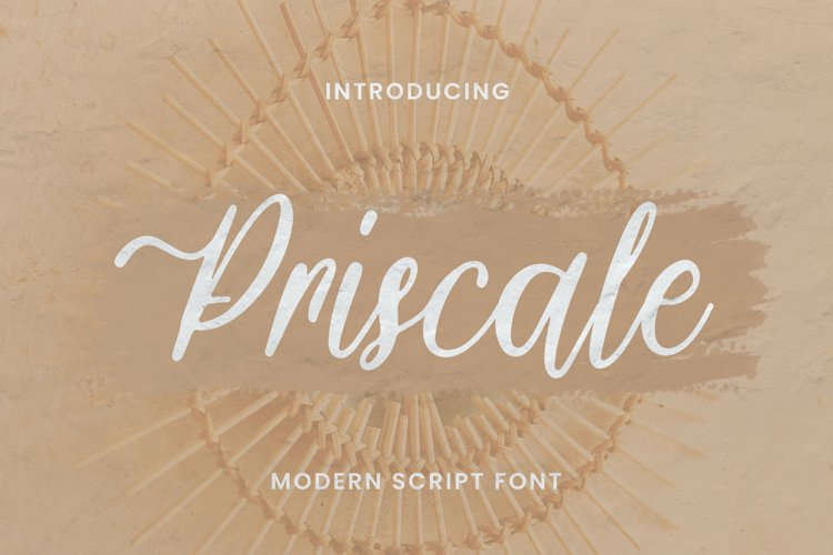 Priscale Font example image 1