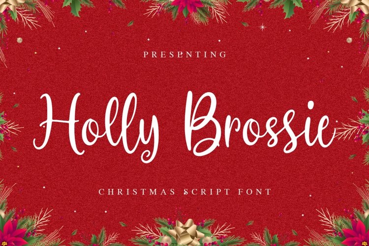 HollyBrossie Font example image 1