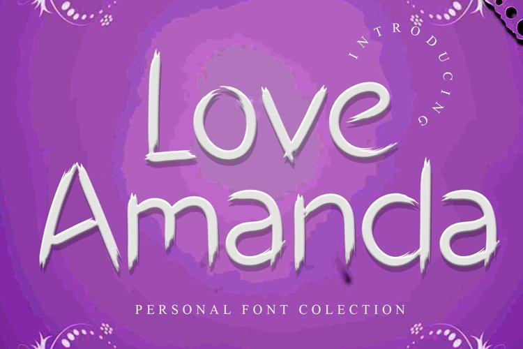 Love Amanda example image 1