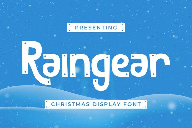Raingear Font example image 1