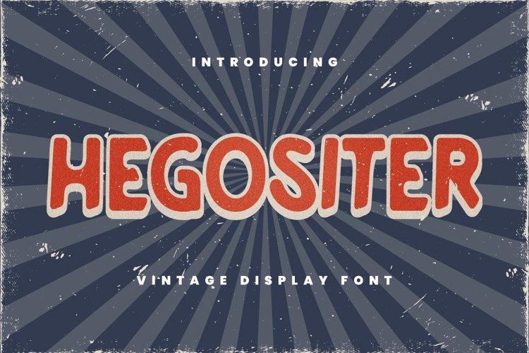 Hegositer Font example image 1