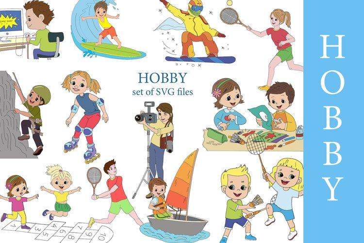 HOBBY digital clipart. Healthy lifestyle, sports, hobbies