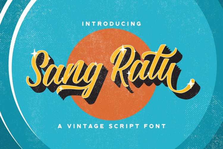 Sang Ratu - Vintage Script Font example image 1