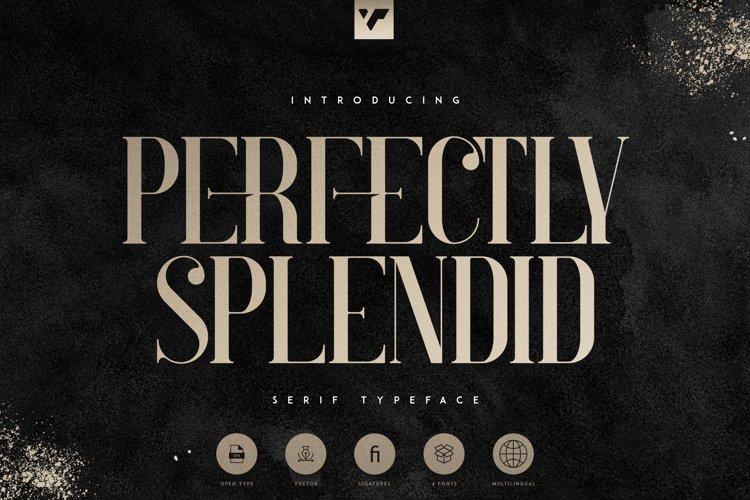 Perfectly Splendid Typeface - 5 font example image 1