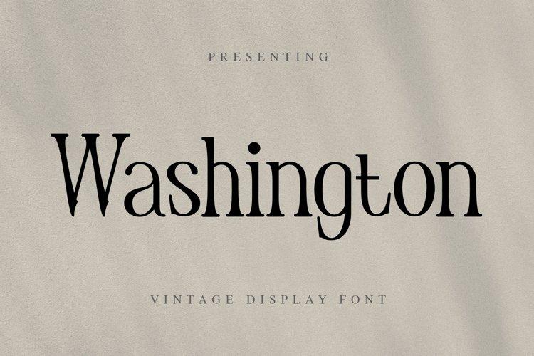 Washington Font example image 1