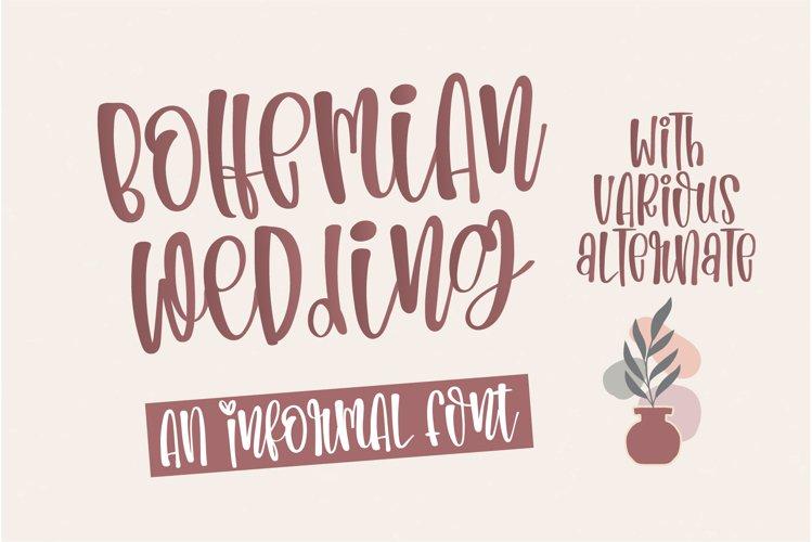Bohemian Wedding- An informal handwritten font example image 1