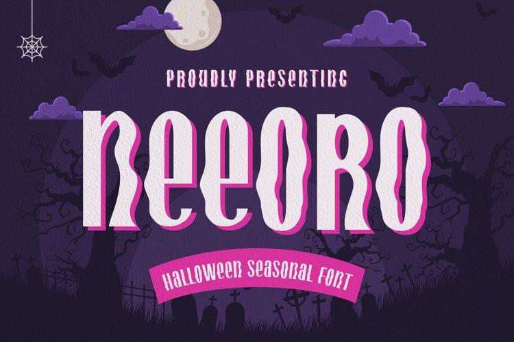 Neeoro Font example image 1