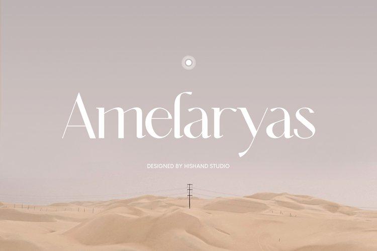 Amelaryas Typeface example image 1