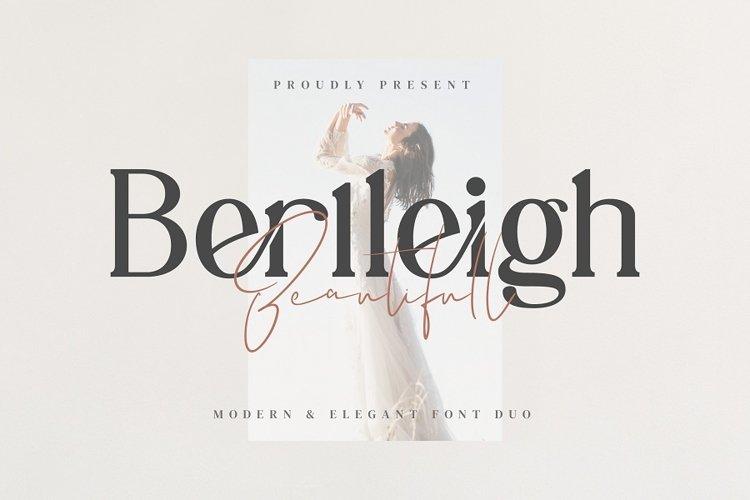 Berlleigh Beautifull Font Duo example image 1
