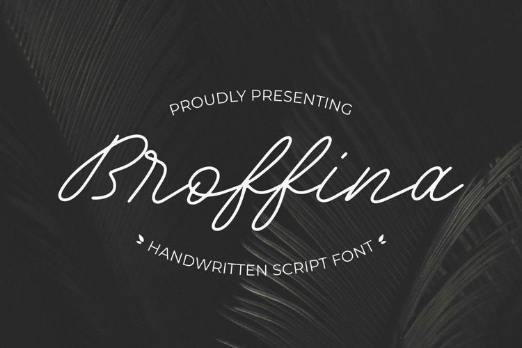 Broffina Font example image 1