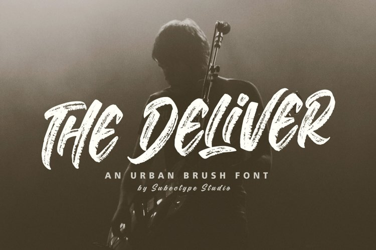 The Deliver - Urban Brush Font example image 1