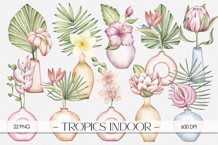 "Watercolor ClipArt ""Tropics Indoor example image 1"