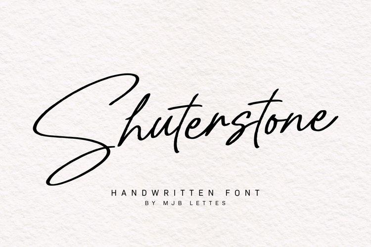Shuterstone Handwritten Font example image 1