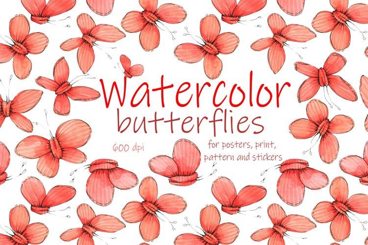 Butterflies. Watercolor. Graphics.