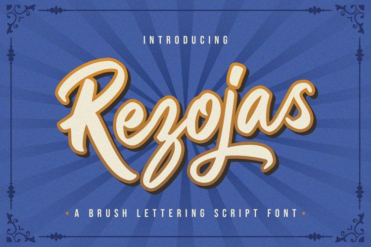 Rezojas - Bold Script Font example image 1