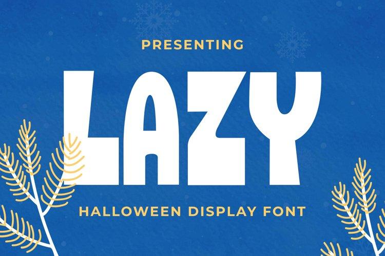 Lazy Font example image 1