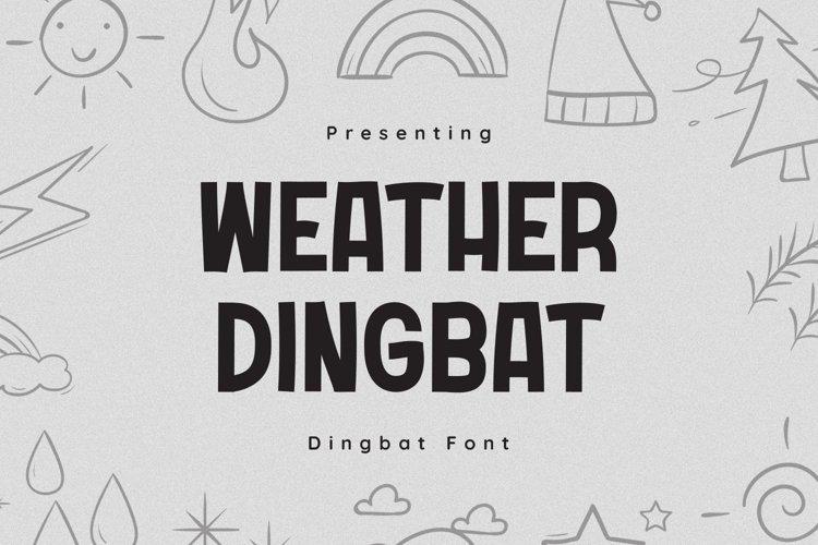 WeatherDingbat Font example image 1