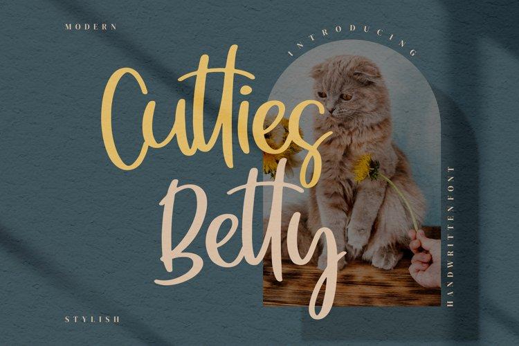 Cutties Betty- Handwritten Font example image 1