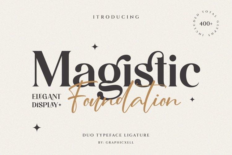 Magistic - Duo Ligature Typeface example image 1